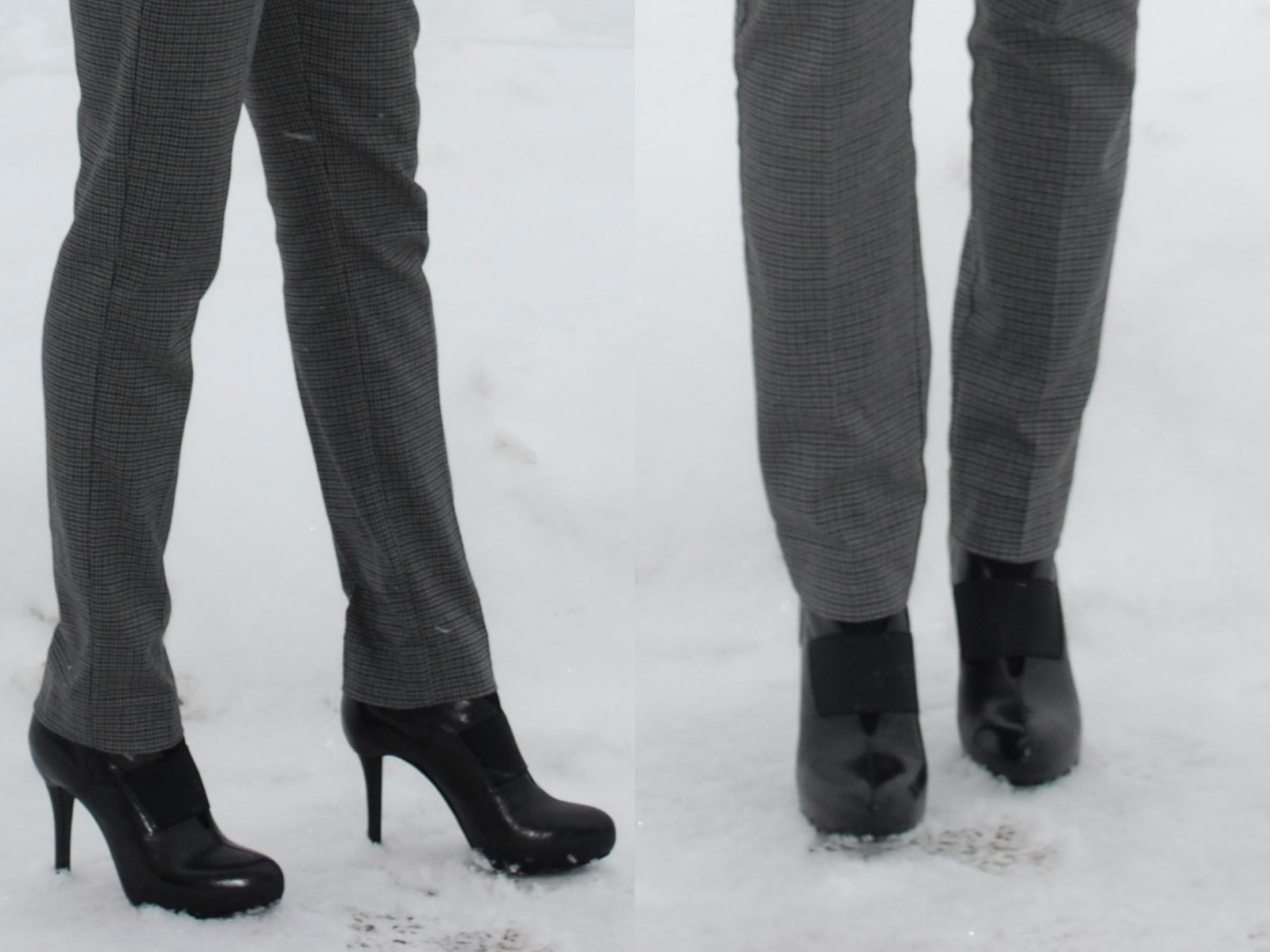 duo shot of heels