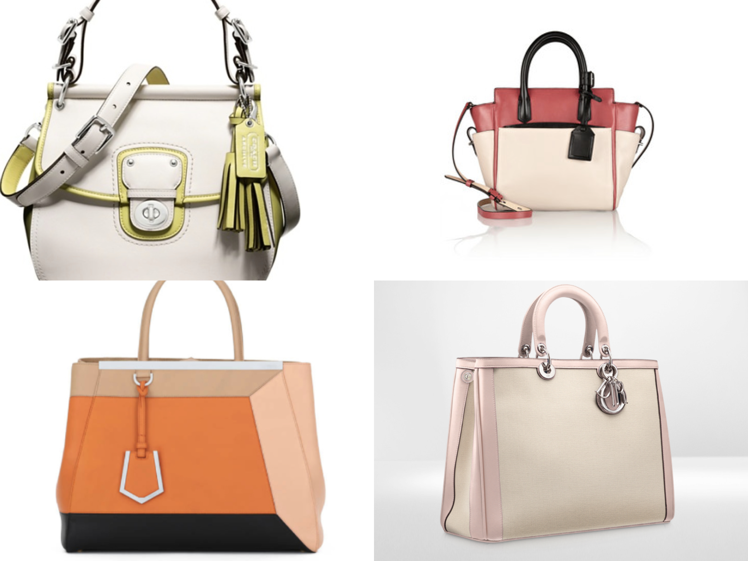 colour block bags