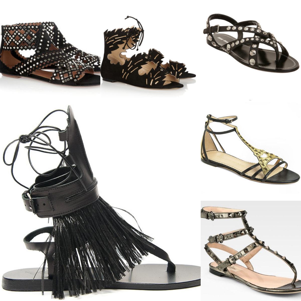 black sandal collage