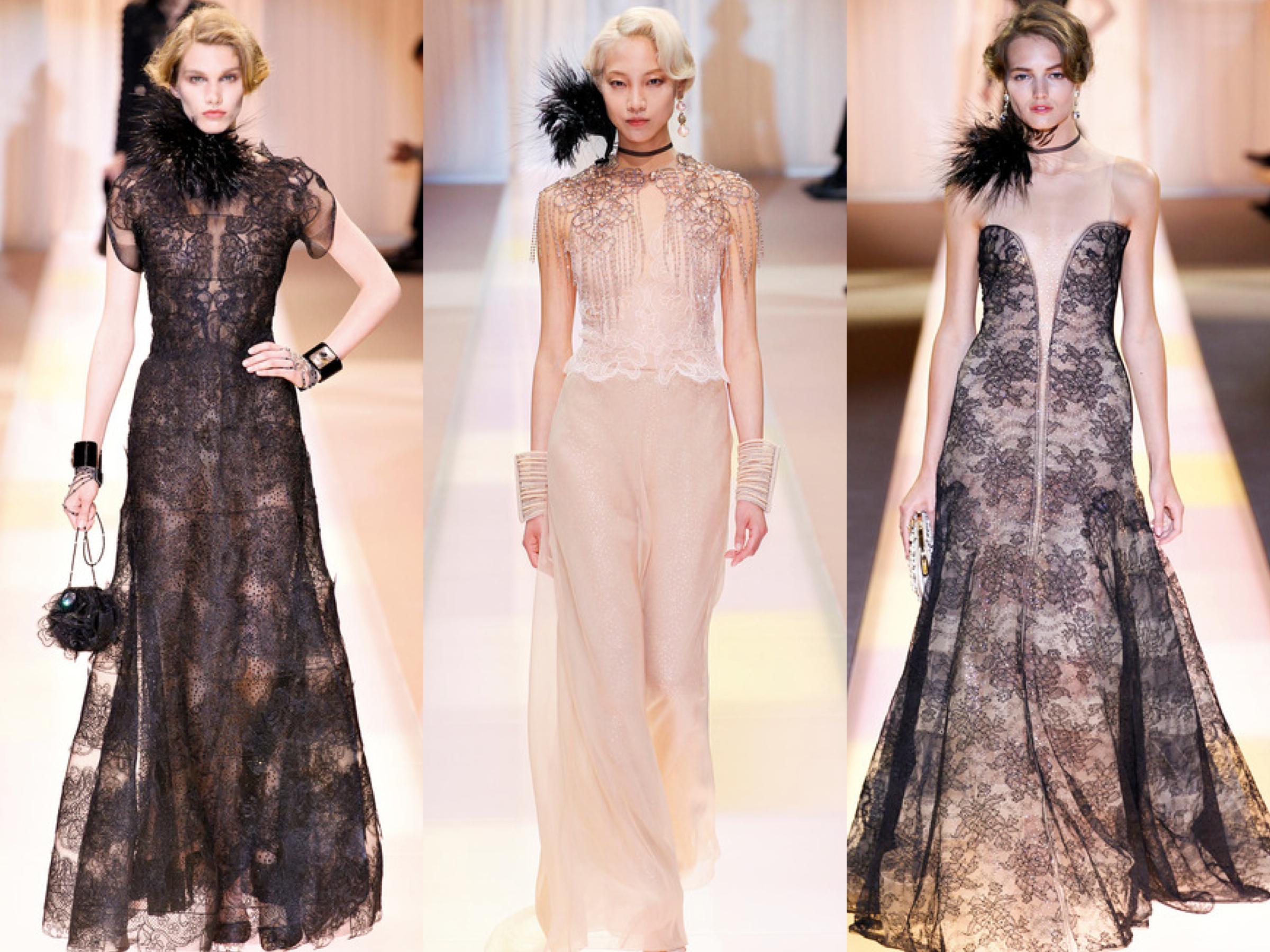 Armani Privé Fall Couture Collage 2