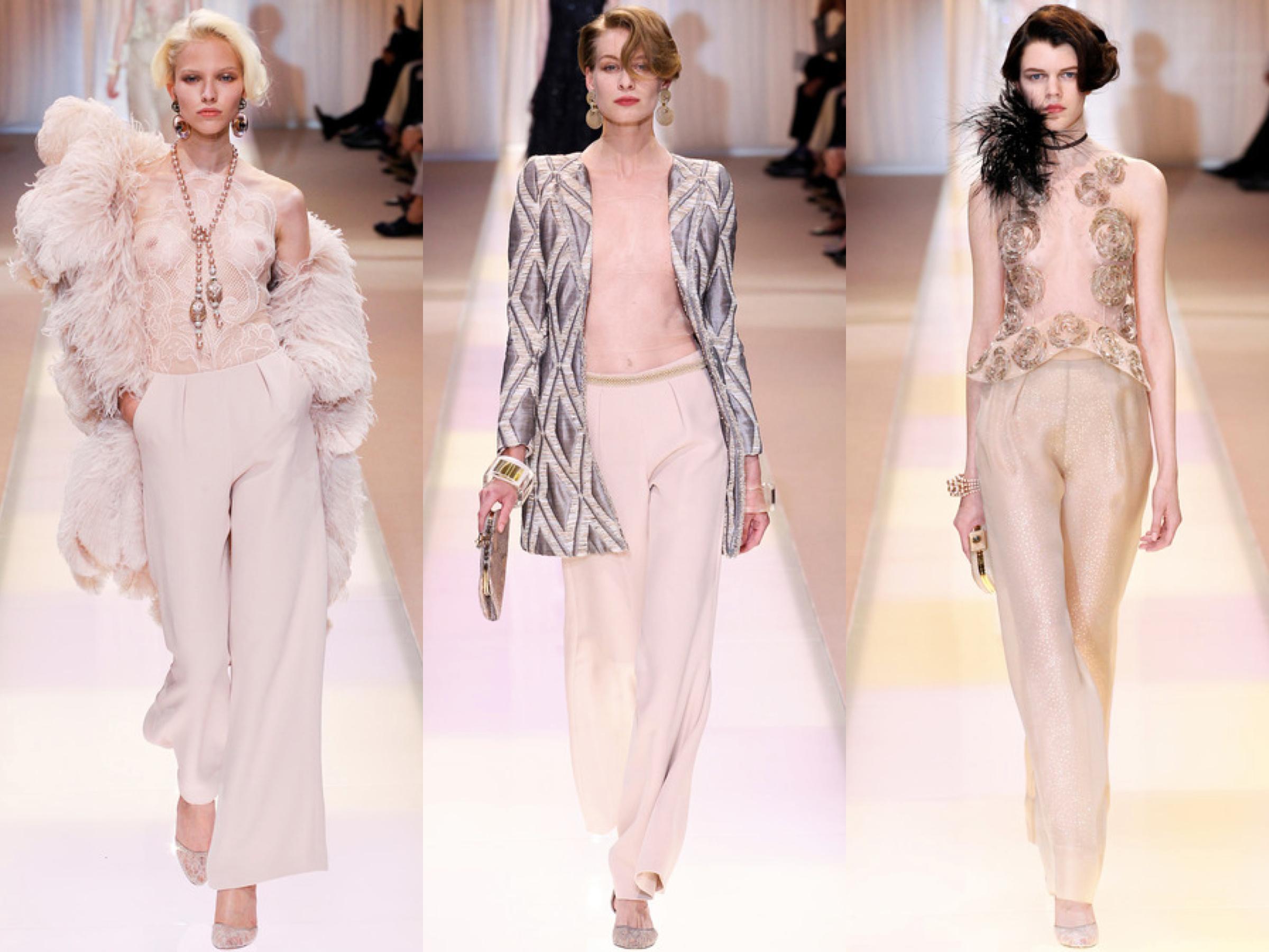 Armani Privé Fall Couture Collage