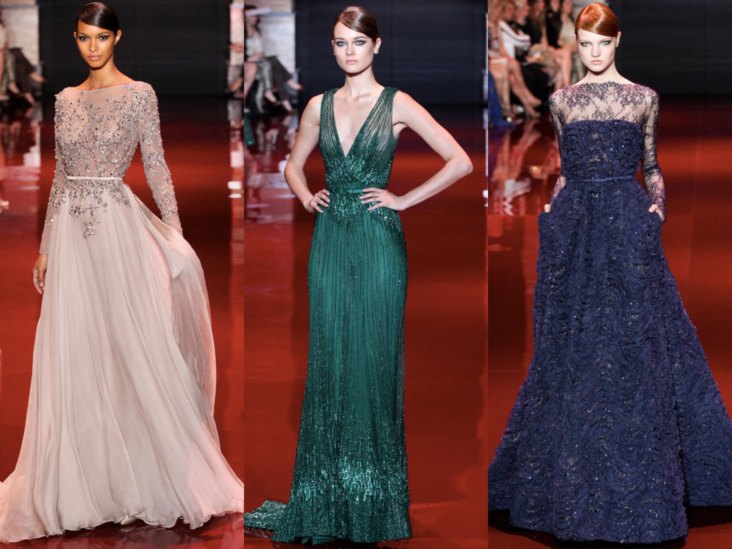 Elie Saab Fall Couture 2013 Collage