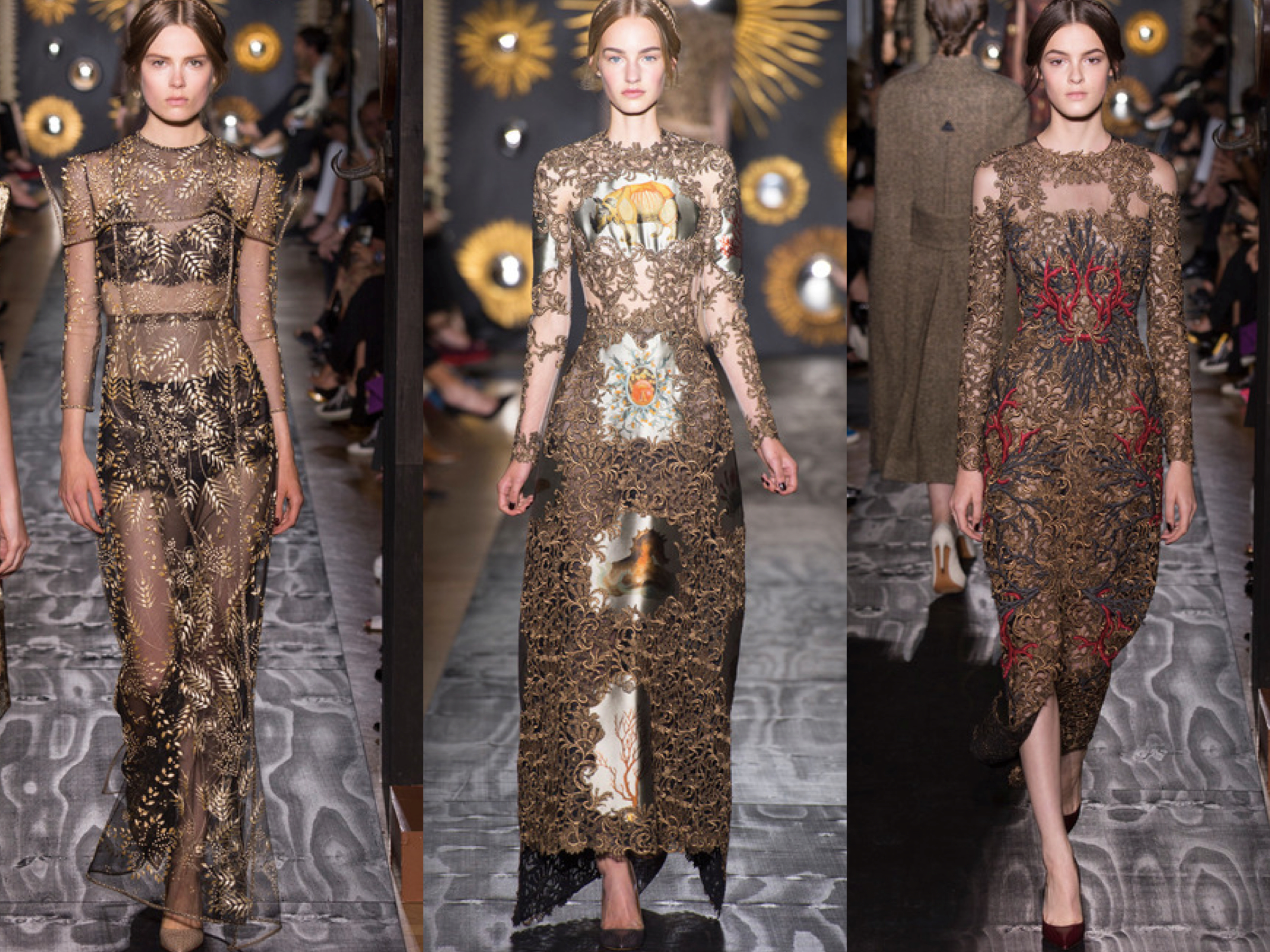 Valentino Fall Couture Collage
