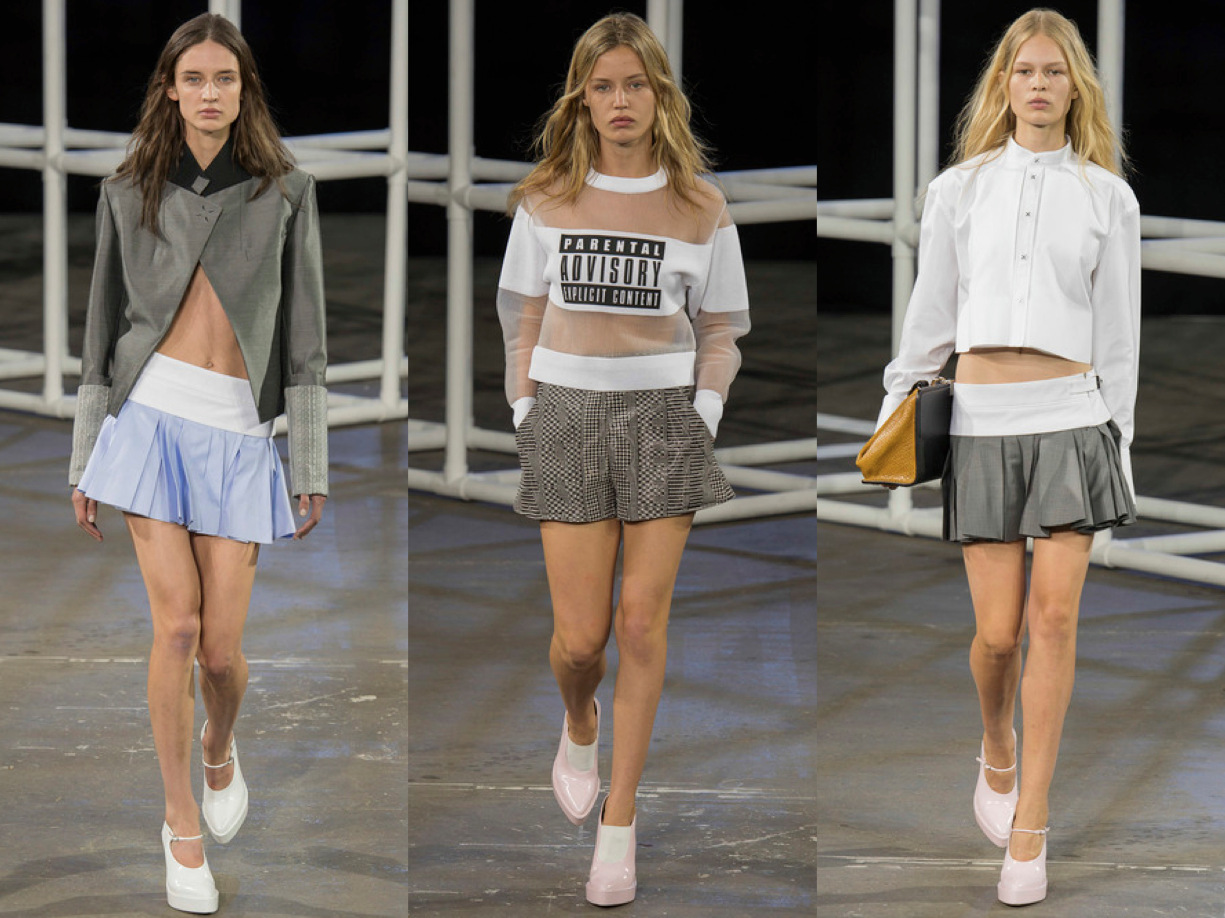 Alexander Wang spring 2014 collage 2