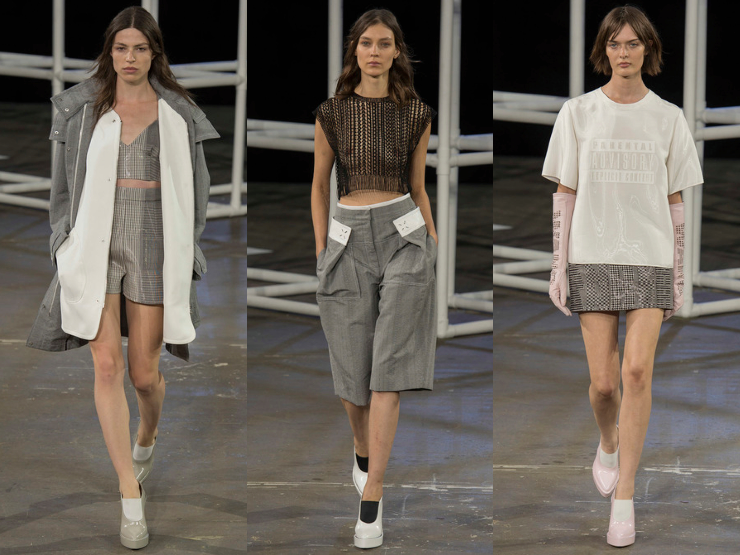 Alexander Wang Spring 2014 collage