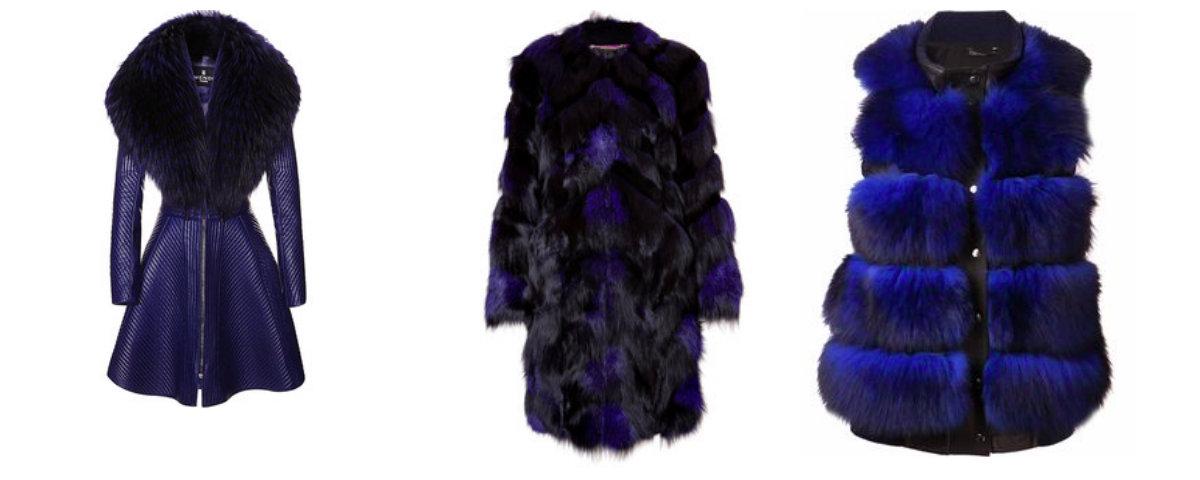 Blue coat collage