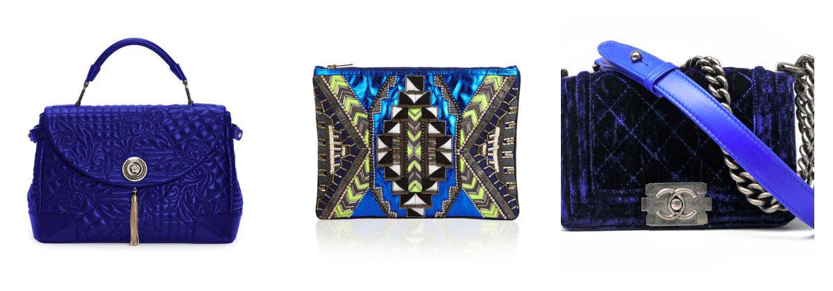 blue purse collage