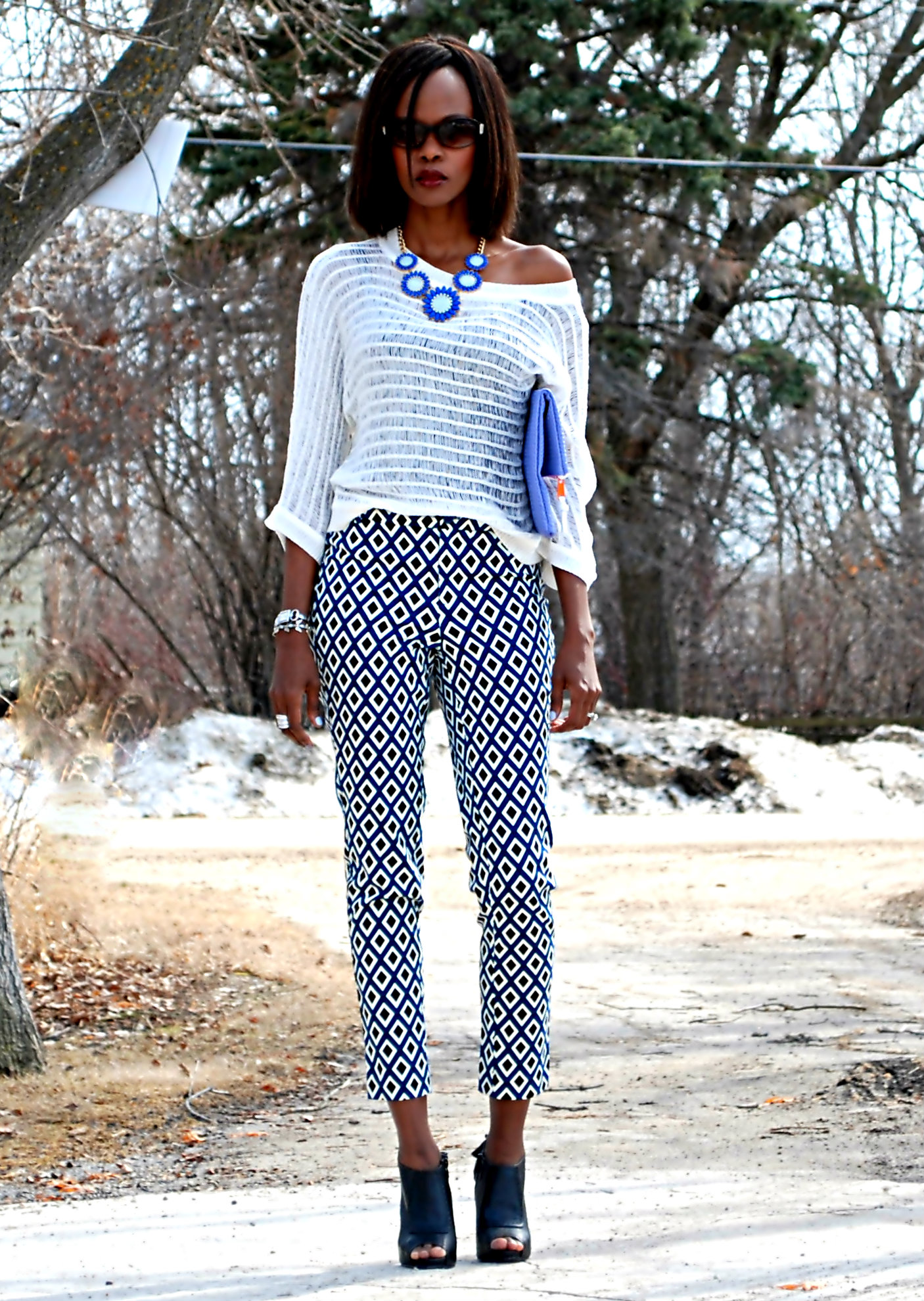 Black And White Print Pants Outfit Off 68 Www Usushimd Com