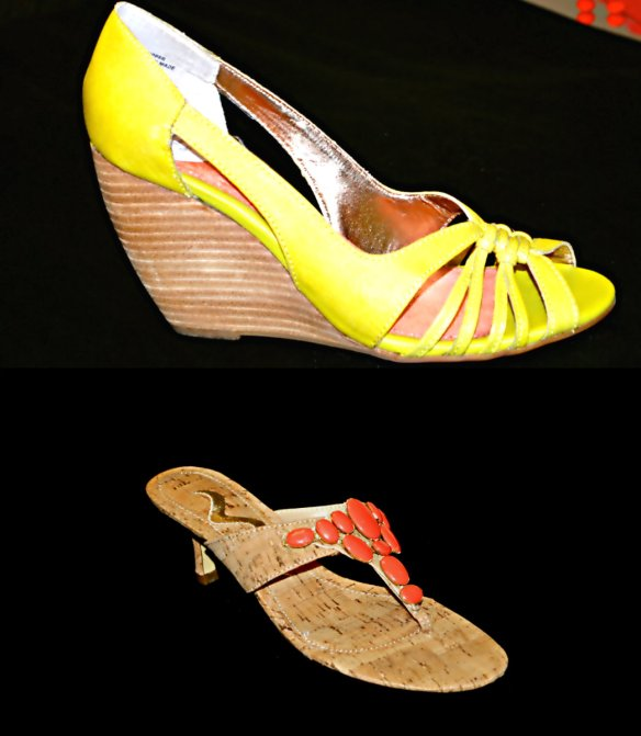 yellow sandals collage