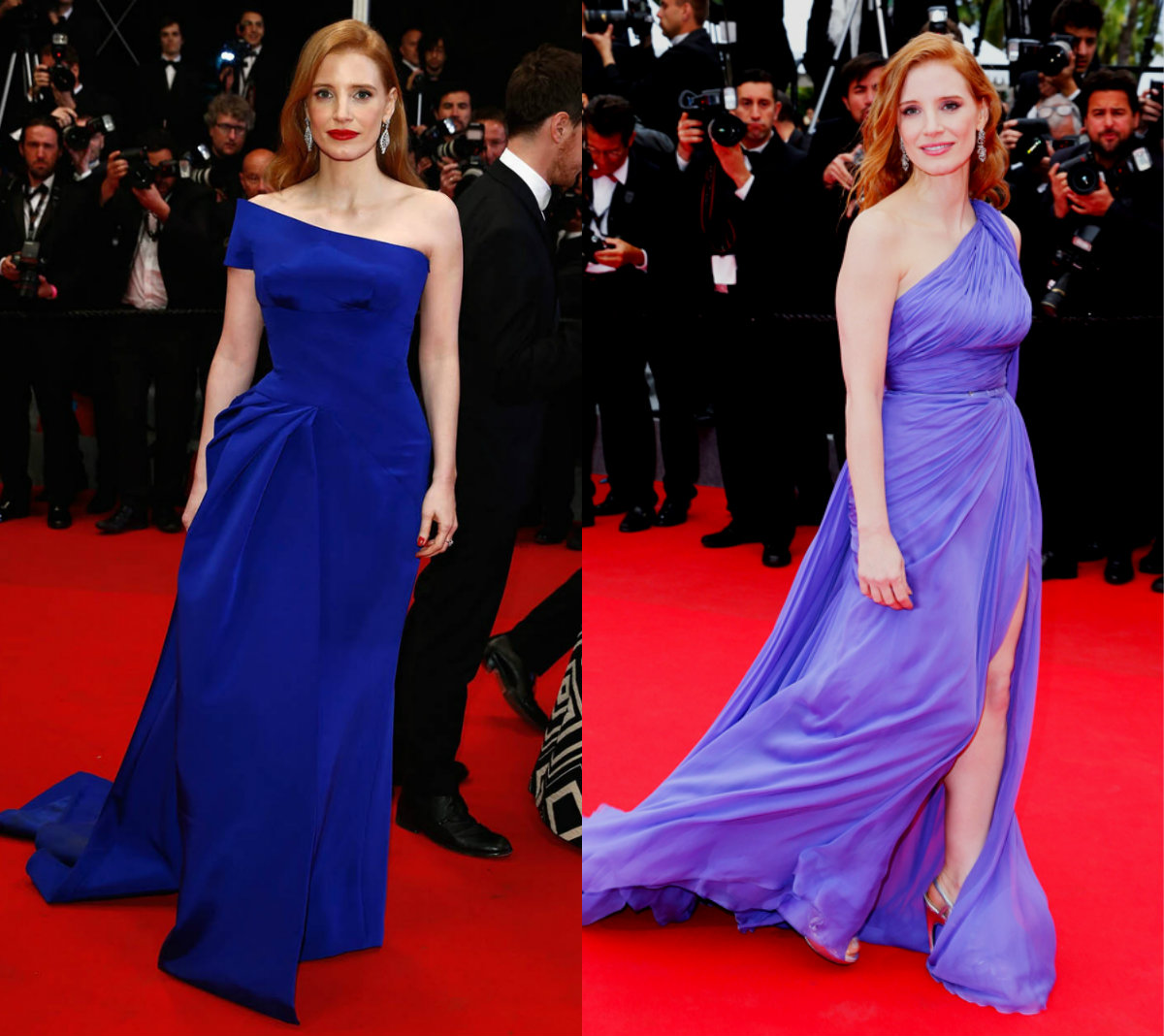 Jessica Chastain cannes collage