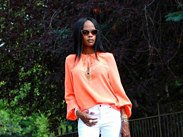 white and orange ootd 9