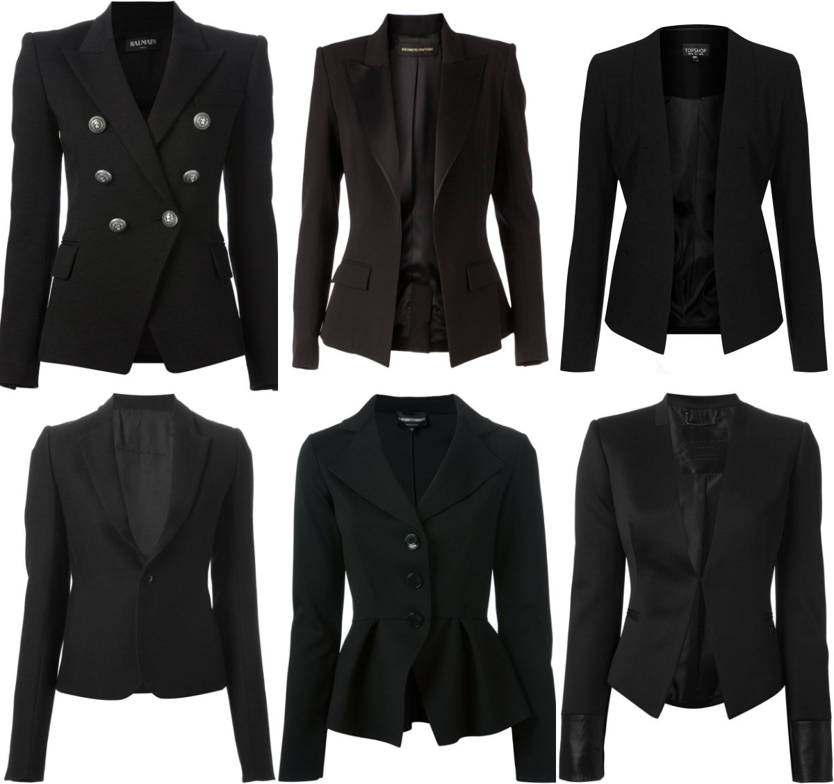Black Blazer collage