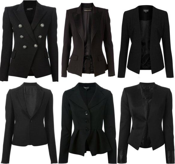 Black Blazer collage
