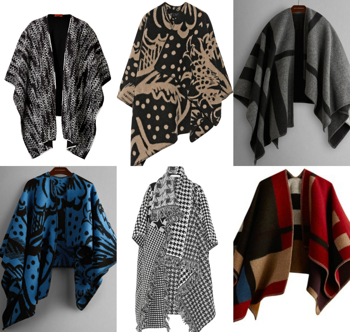 blanket coat collage