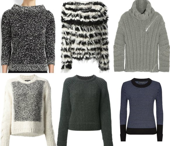 chunky knit collage