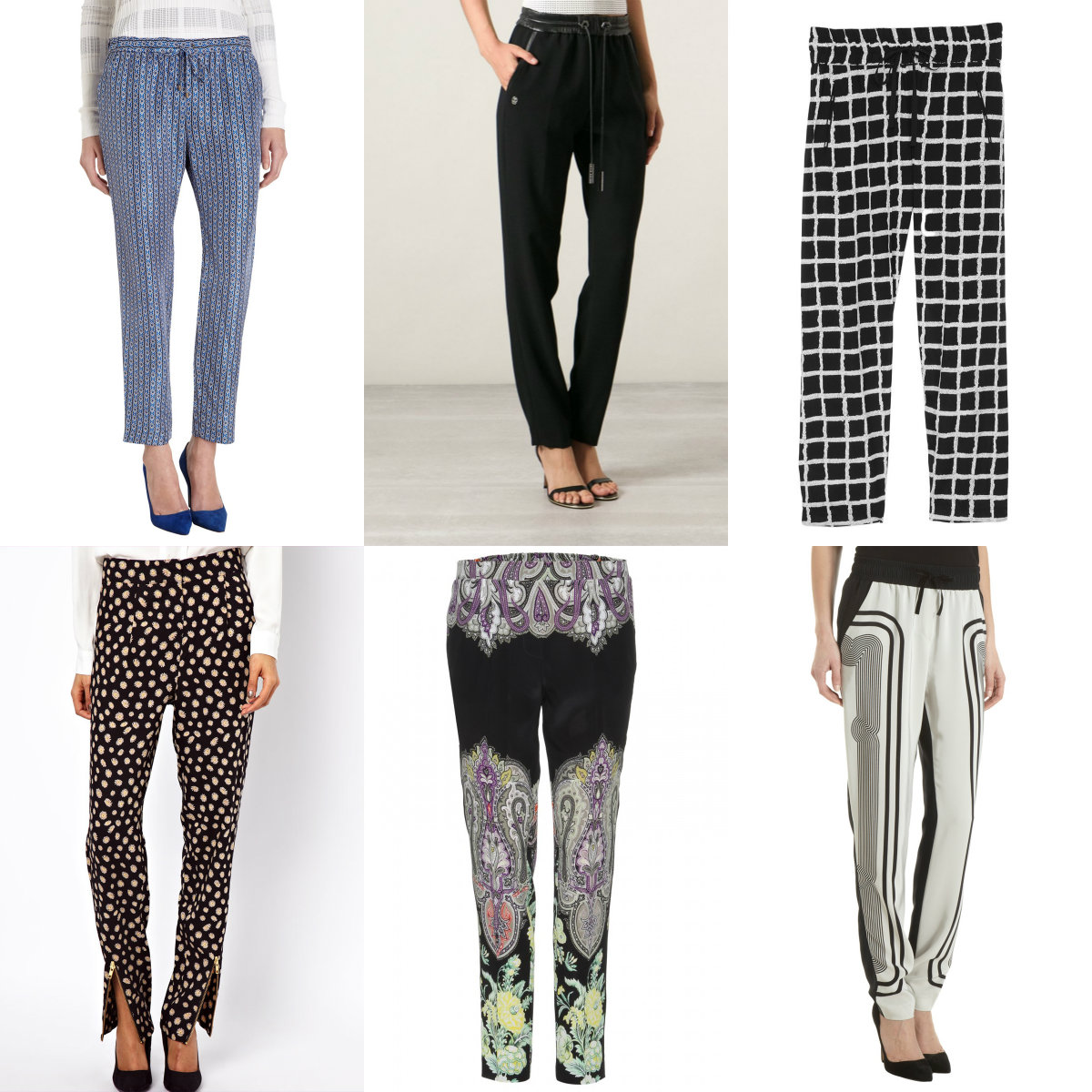 slouchy pants collage