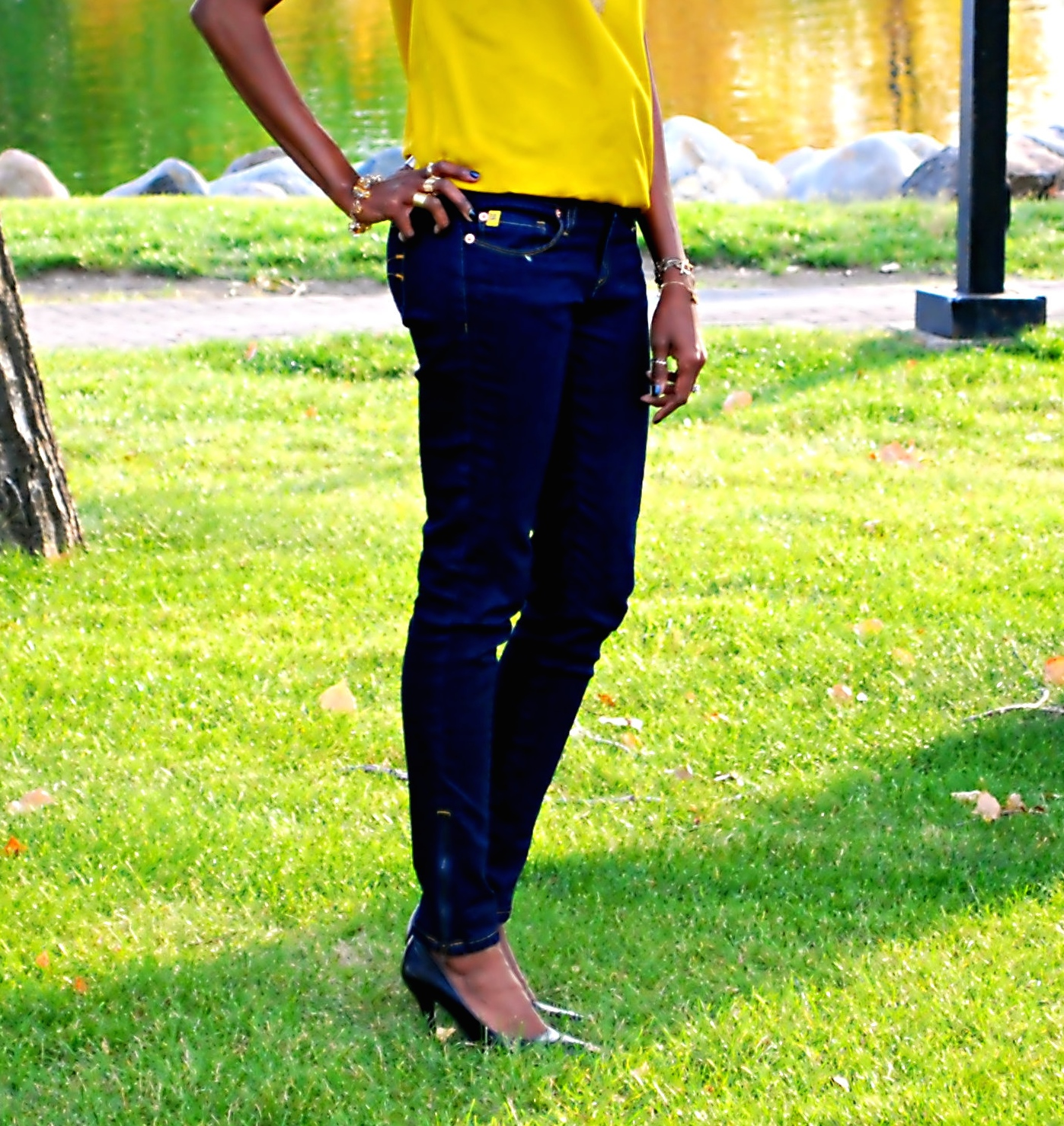 yellow top ootd 15