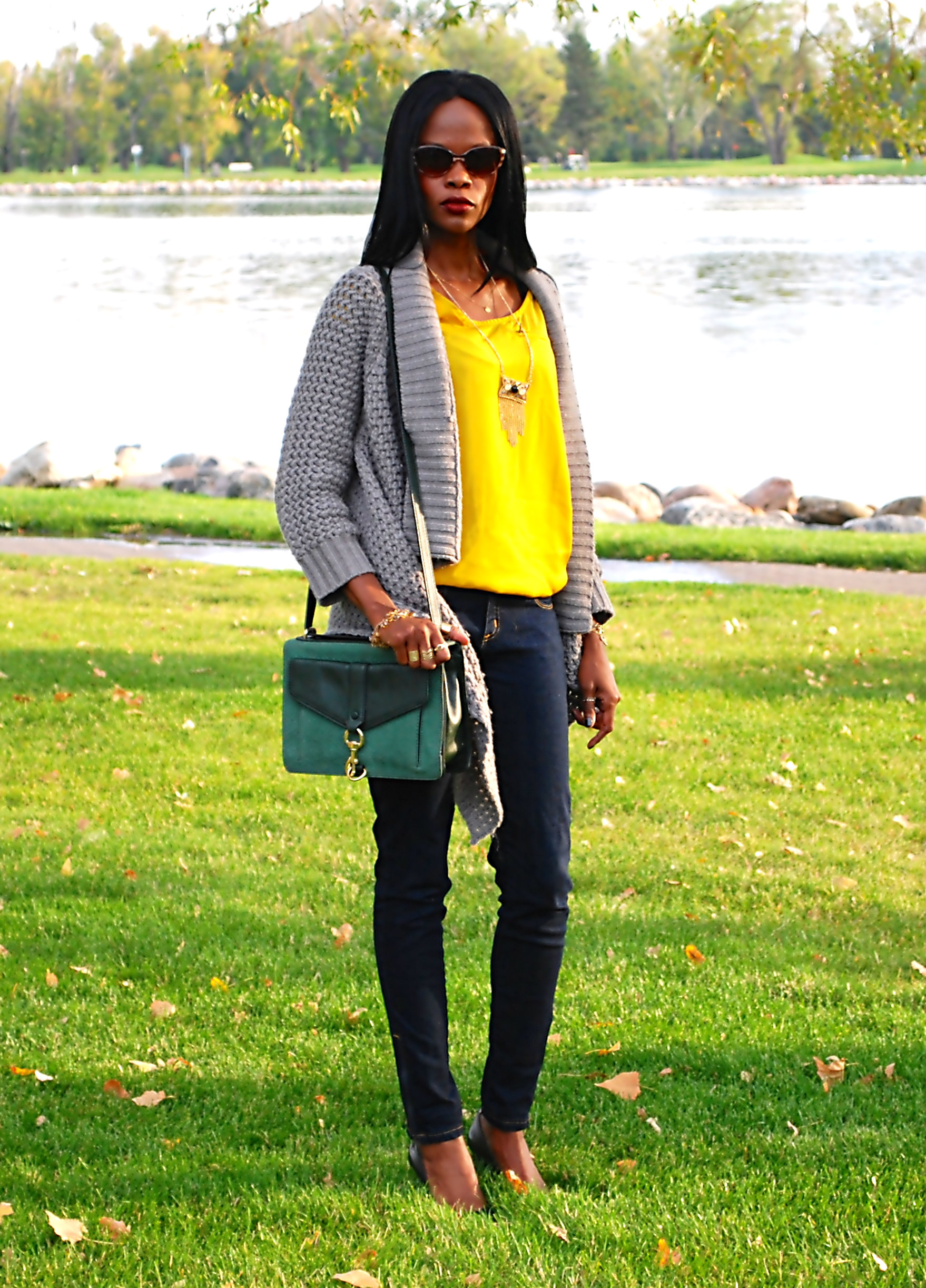 yellow top ootd 4