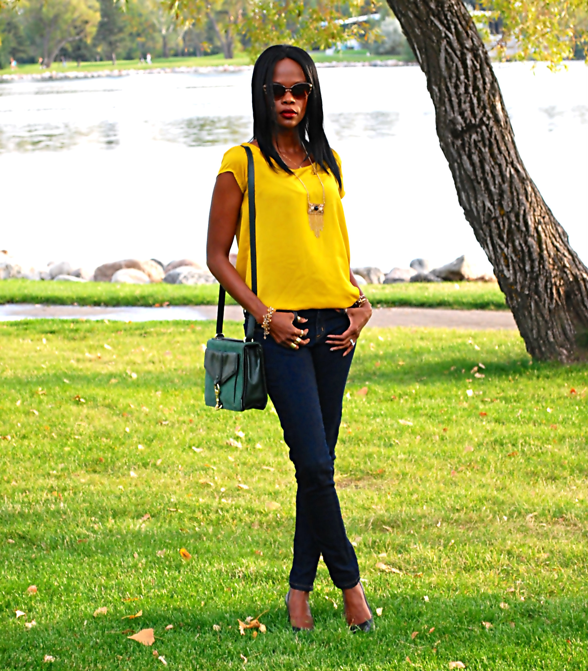 yellow top ootd 8