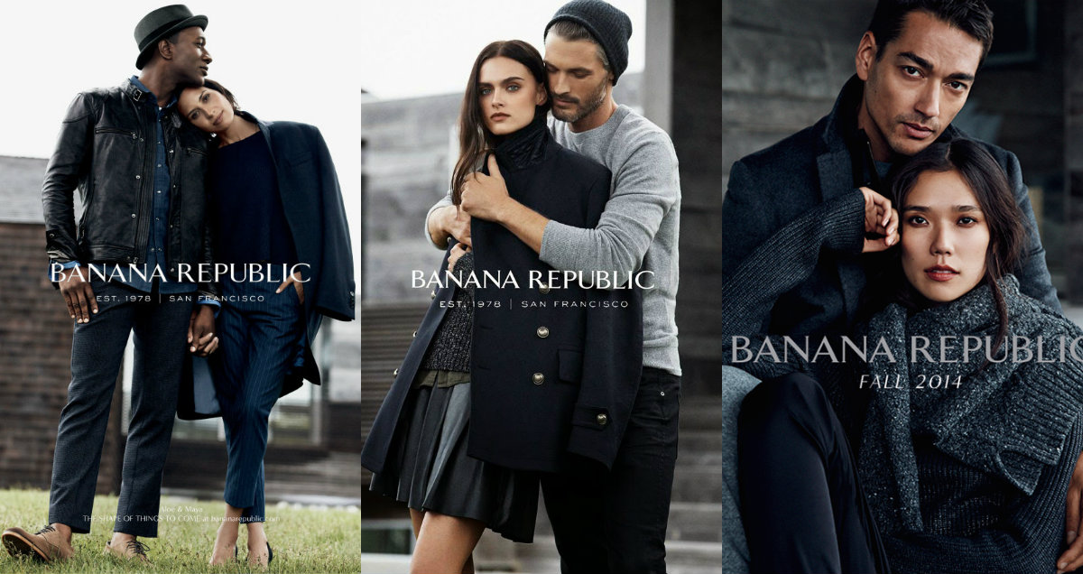 Banana Republic collage