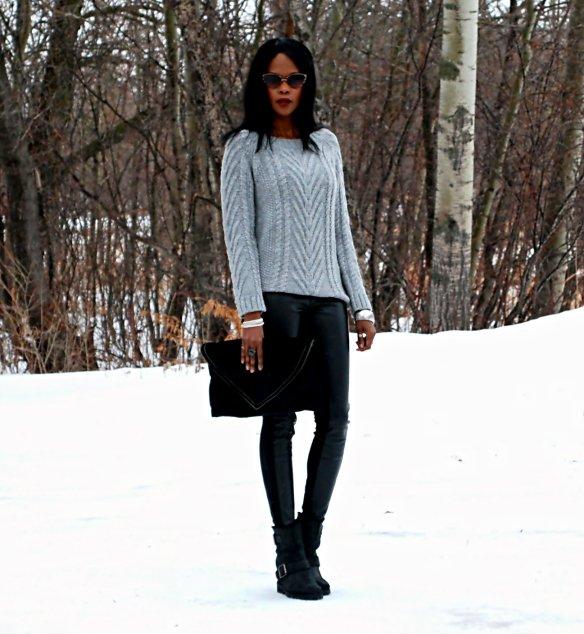 Grey sweater ootd 6
