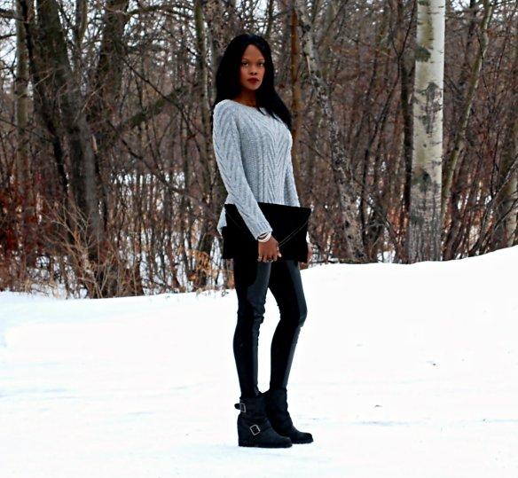 Grey sweater ootd 7